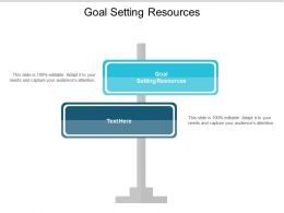 Goal Setting Resources Ppt Powerpoint Presentation Styles Format Cpb