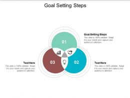 Goal Setting Steps Ppt Powerpoint Presentation Infographics Clipart Cpb