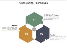 Goal Setting Techniques Ppt Powerpoint Presentation Model Examples Cpb