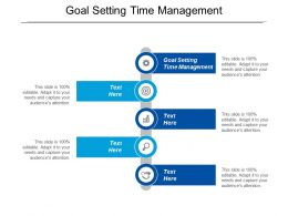 Goal Setting Time Management Ppt Powerpoint Presentation Gallery Design Templates Cpb