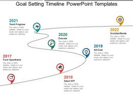 Goal Setting Timeline Powerpoint Templates