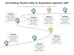 Goal Setting Timeline Slide For Expenditure Approach Gdp Infographic Template