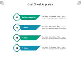Goal Sheet Appraisal Ppt Powerpoint Presentation Ideas Display Cpb