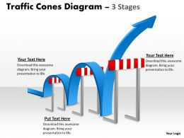 Goal Slides With Traffic Cones Zig Zag Path Presentation Diagrams Templates Powerpoint Info Graphics