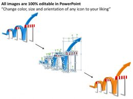 goal_slides_with_traffic_cones_zig_zag_path_presentation_diagrams_templates_powerpoint_info_graphics_Slide02