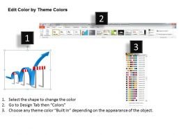 goal_slides_with_traffic_cones_zig_zag_path_presentation_diagrams_templates_powerpoint_info_graphics_Slide05