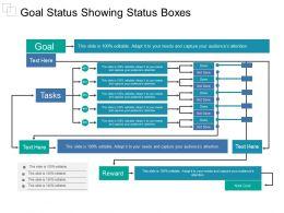 Goal Status Showing Status Boxes