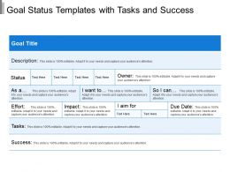 Goal Status Templates With Tasks And Success