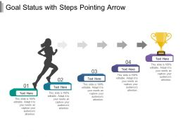 Goal Status With Steps Pointing Arrow