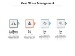 Goal Stress Management Ppt Powerpoint Presentation Layouts Mockup Cpb