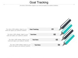 Goal Tracking Ppt Powerpoint Presentation Gallery Deck Cpb