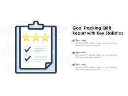 Goal Tracking QBR Report With Key Statistics