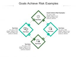 Goals Achieve Risk Examples Ppt Powerpoint Presentation Show Outline Cpb