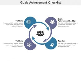 Goals Achievement Checklist Ppt Powerpoint Presentation Show Topics Cpb