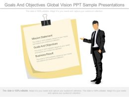 Goals And Objectives Global Vision Ppt Sample Presentations