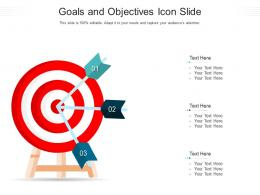 Goals And Objectives Icon Slide Infographic Template