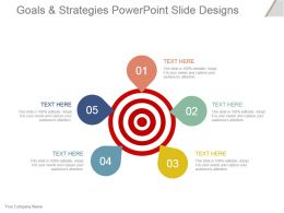 Goals And Strategies Powerpoint Slide Designs