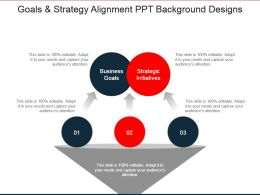 Goals And Strategy Alignment Ppt Background Designs