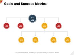 Goals And Success Metrics Plan Structure Ppt Powerpoint Presentation Outline