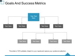 Goals And Success Metrics Ppt Background Image