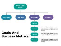 Goals And Success Metrics Ppt Portfolio Graphic Images