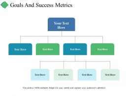 Goals And Success Metrics Ppt Summary Elements