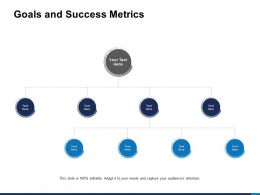Goals And Success Metrics Process Ppt Powerpoint Presentation Pictures Styles