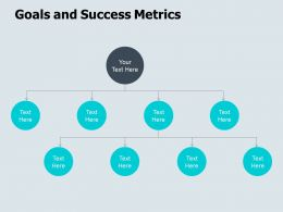 Goals And Success Metrics Target Ppt Powerpoint Presentation Icon Slides