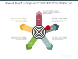 Goals And Target Setting Powerpoint Slide Presentation Tips