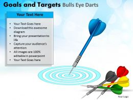 Goals And Targets Bulls Eye Darts Powerpoint Slides And Ppt Templates DB