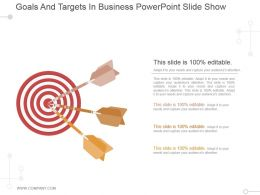 Goals And Targets In Business Powerpoint Slide Show