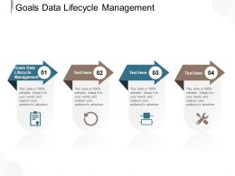 Goals Data Lifecycle Management Ppt Powerpoint Presentation Model Guidelines Cpb