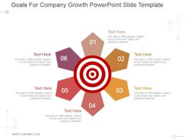 Goals For Company Growth Powerpoint Slide Template