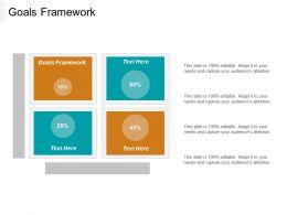 Goals Framework Ppt Powerpoint Presentation Gallery Model Cpb