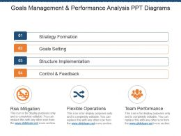 Goals Management And Performance Analysis Ppt Diagrams