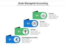 Goals Managerial Accounting Ppt Powerpoint Presentation Professional Brochure Cpb