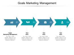 Goals Marketing Management Ppt Powerpoint Presentation Outline Microsoft Cpb