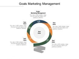 Goals Marketing Management Ppt Powerpoint Presentation Summary Mockup Cpb