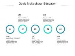 Goals Multicultural Education Ppt Powerpoint Presentation Icon Master Slide Cpb