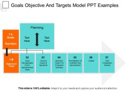 Goals Objective And Targets Model Ppt Examples