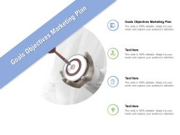 Goals Objectives Marketing Plan Ppt Powerpoint Presentation Pictures Guide Cpb