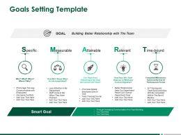 Goals Setting Measurable Ppt Powerpoint Presentation Styles Topics