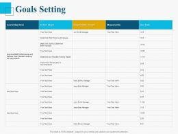 Goals Setting Ppt Powerpoint Presentation Outline Examples