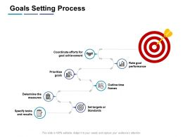 Goals Setting Process Performance K41 Ppt Powerpoint Presentation Professional