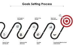 Goals Setting Process Ppt Powerpoint Presentation Professional Grid