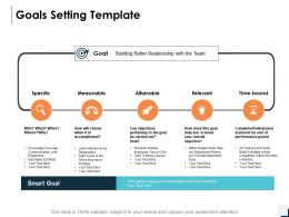 Goals Setting Template Measurable Ppt Powerpoint Presentation Gallery Structure