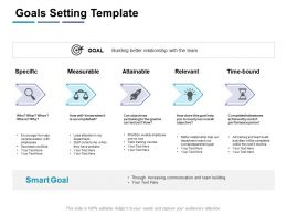 Goals Setting Template Measurable Ppt Powerpoint Presentation Infographic Template Designs