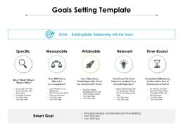 Goals Setting Template Ppt Powerpoint Presentation Professional Gridlines