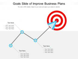 Goals Slide Of Improve Business Plans Infographic Template