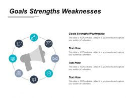 Goals Strengths Weaknesses Ppt Powerpoint Presentation Gallery Designs Download Cpb